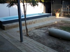 Everlast Pine Decking wooden floor